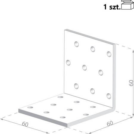 Kątownik KMP5 60x60x60 x 1,5 mm (1 szt.)