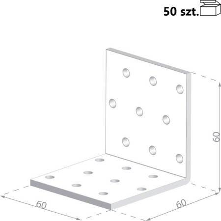 Kątownik KMP5 60x60x60 x 1,5 mm (50 szt.)