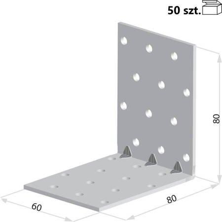 Kątownik KMP8 80x80x60 x 1,5 mm (50 szt.)