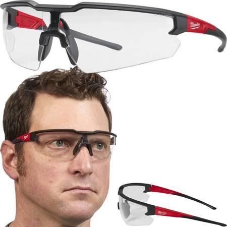 Okulary ochronne gogle robocze bezbarwne Milwaukee