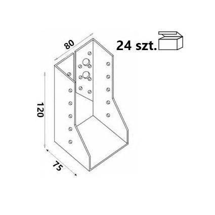Wieszak belki WZ82 80x120x75x 2,0 mm (24 szt.)